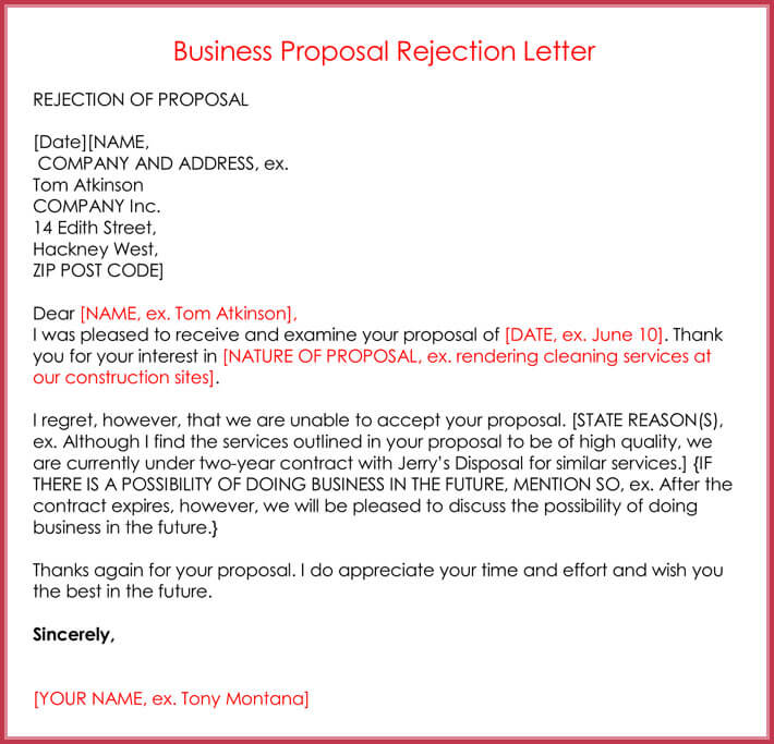 Rejection Letters - 20+ Free Samples  Formats for HR