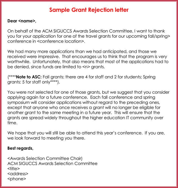 Rejection Letters - 20+ Free Samples  Formats for HR - investor rejection letter samples