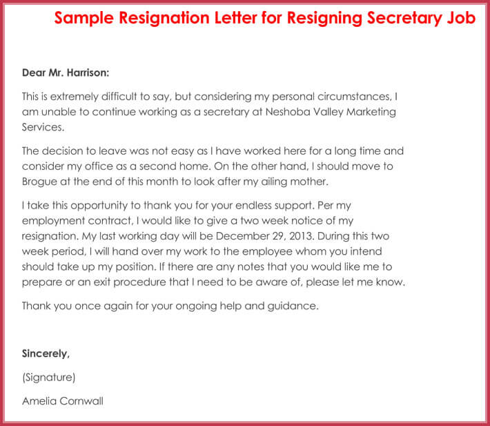 How to Write a Resignation Letter (with 10+ Professional Samples) - writing a resignation letter