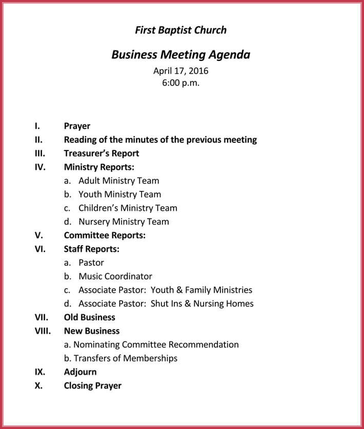 Business Meeting Agenda Templates - 9+ Best Samples in PDF  Word