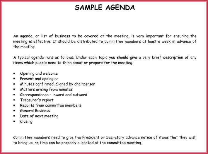 Simple Agenda Template - 19+ best Agenda\u0027s Download in PDF  Word