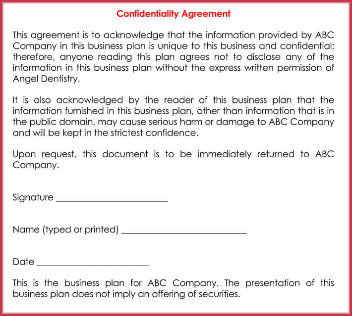 Basic Confidentiality / Non-Disclosure Agreement Forms  Templates