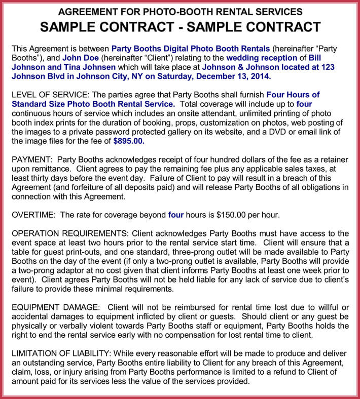 Booth Rental Agreement Template - 12 + FREE Samples, Forms
