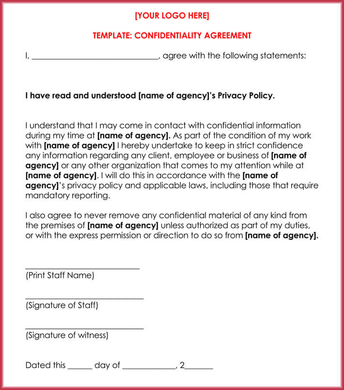 Celebrity Confidentiality Nda Agreement Samples And Writing