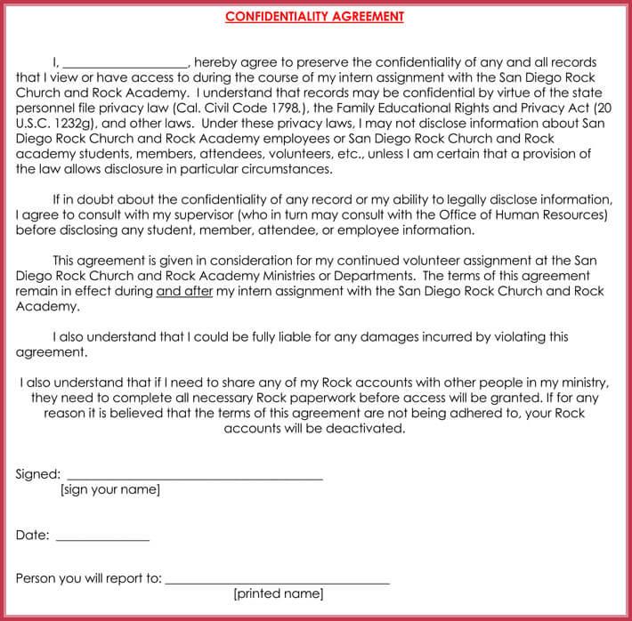 employee confidentiality agreement template - Vatozatozdevelopment
