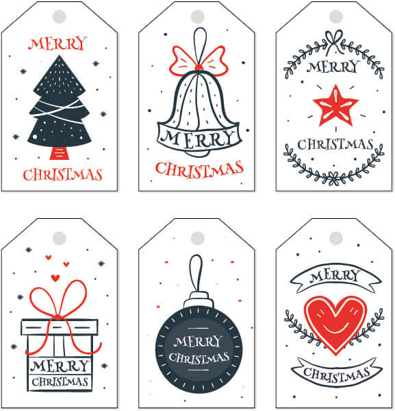 Free Christmas Gift Tag Templates - Editable  Printable