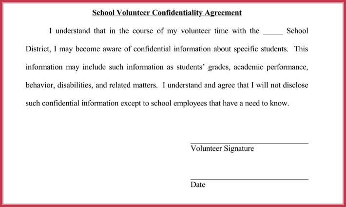 Charming Volunteer Confidentiality Agreement Ideas - Resume Ideas - volunteer confidentiality agreement