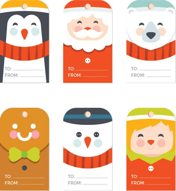 Free Christmas Gift Tag Templates - Editable  Printable - free christmas word templates