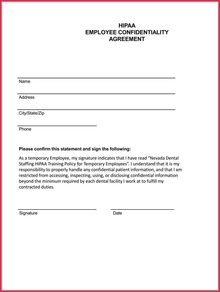 employee confidentiality agreement form - Funfpandroid