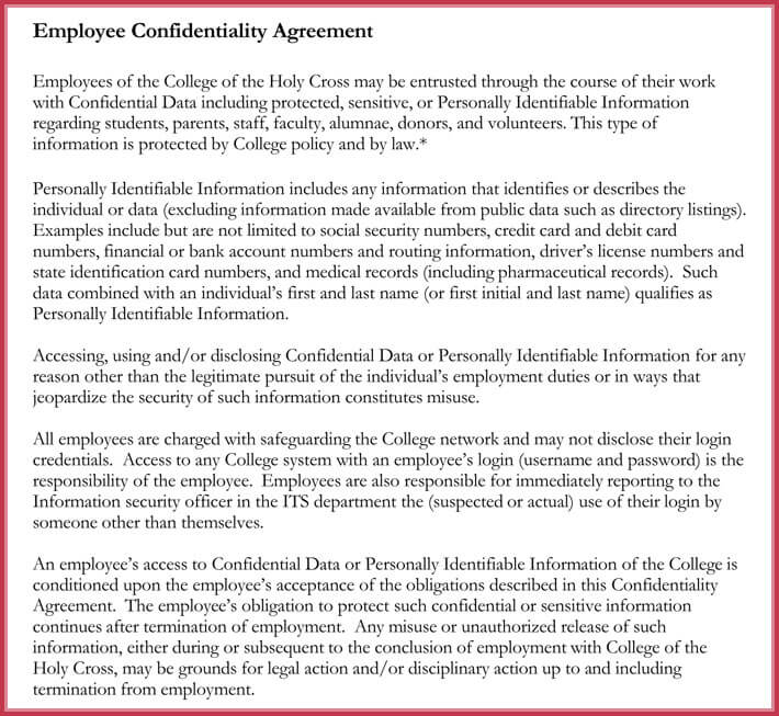 Write Human Resources Confidentiality Agreement with Free Samples