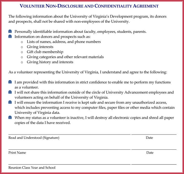 Non-Disclosure Agreement (Confidentiality) Samples - Free Downloads