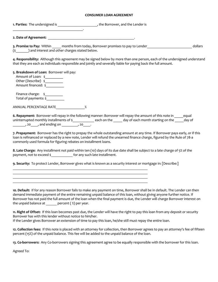 45+ Loan Agreement Templates  Samples (Write Perfect Agreements)