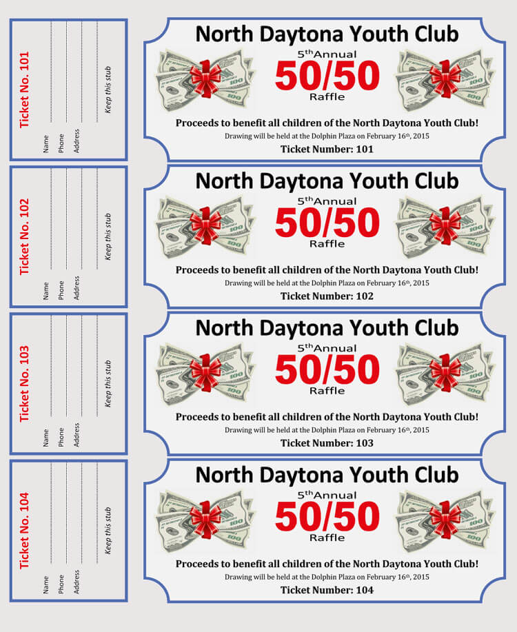 45+ Raffle Ticket Templates Make Your Own Raffle Tickets