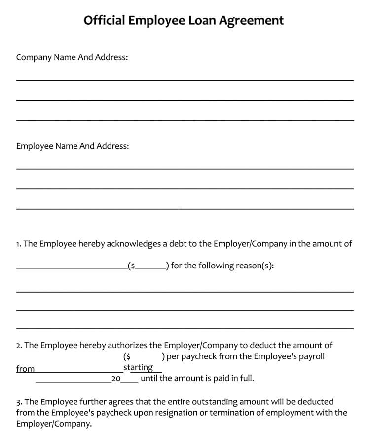 45+ Loan Agreement Templates  Samples (Write Perfect Agreements) - sample loan agreement