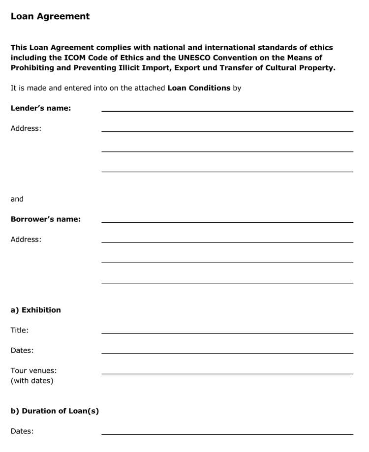 45+ Loan Agreement Templates  Samples (Write Perfect Agreements) - Private Loan Agreement Template