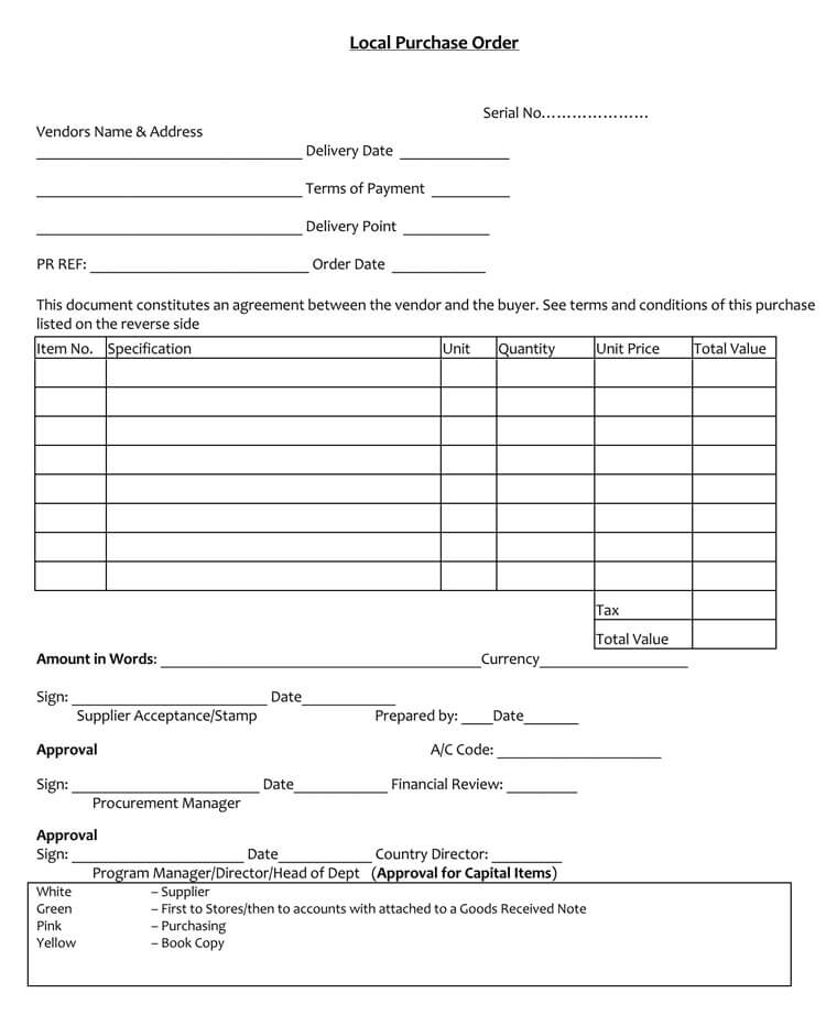 Purchase Order Template Doc | colbro.co