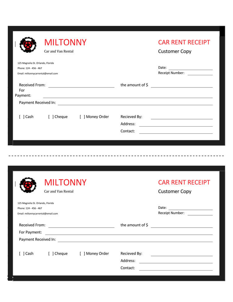 16+ Free Taxi Receipt Templates - Make Your Taxi Receipts Easily