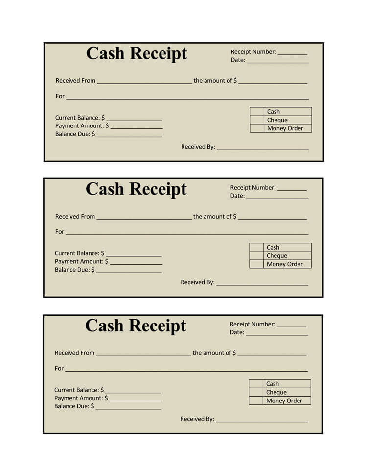 17 Free Cash Receipt Templates for Excel, Word and PDF