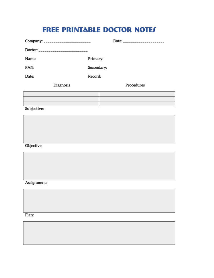 36 Free Fill-in-Blank Doctors Note Templates (For Work  School)