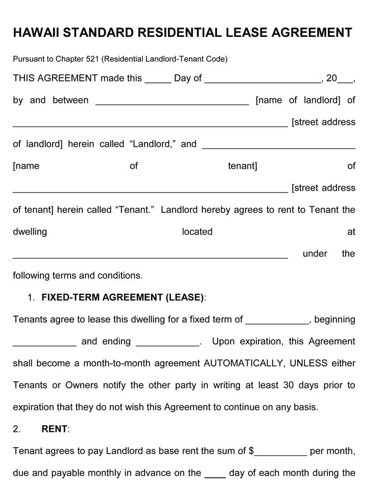 Rental Agreement Template (25+ Templates to Write Perfect Agreement)