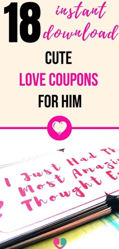 18 Cute and FREE Printable Love Coupons For Him - Instant Download