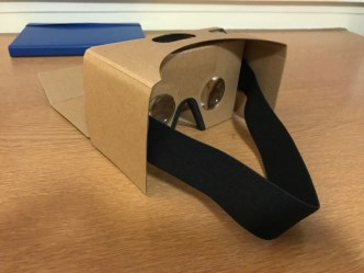 The fully assembled Google Cardboard