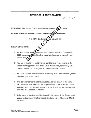 National Treasury Notice Of Lease Violation Philippines Legal Templates