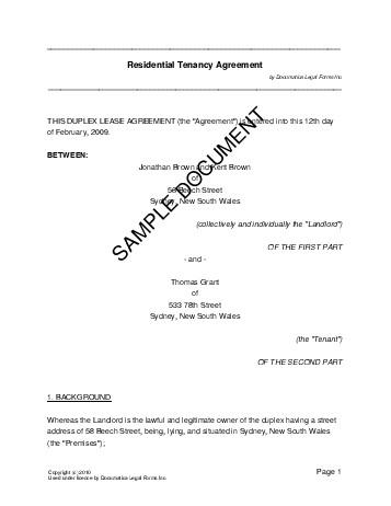 sample residential rental agreement - fototango