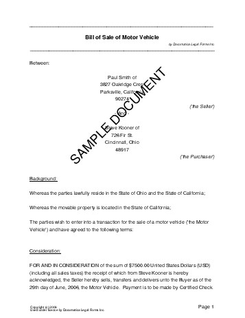 Bill of Sale (Bangladesh) - Legal Templates - Agreements, Contracts