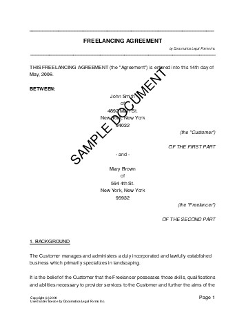 Freelancing Agreement (Germany) - Legal Templates - Agreements