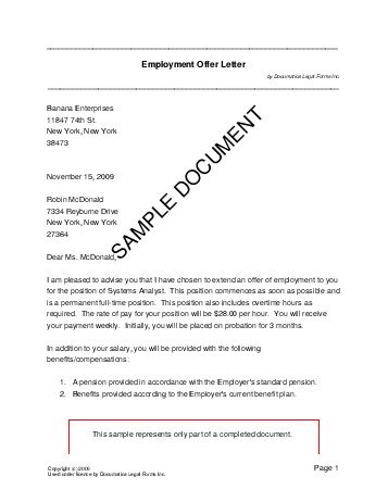 Employment Offer Letter (Mexico) - Legal Templates - Agreements - employment letter