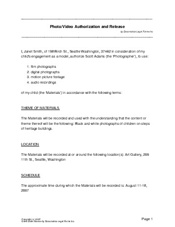 Free Photo\/Video Consent Agreement (New Zealand) - Legal Templates - videography contract template