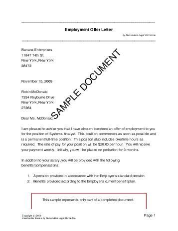 Employment Offer Letter (Pakistan) - Legal Templates - Agreements - standard employment agreement
