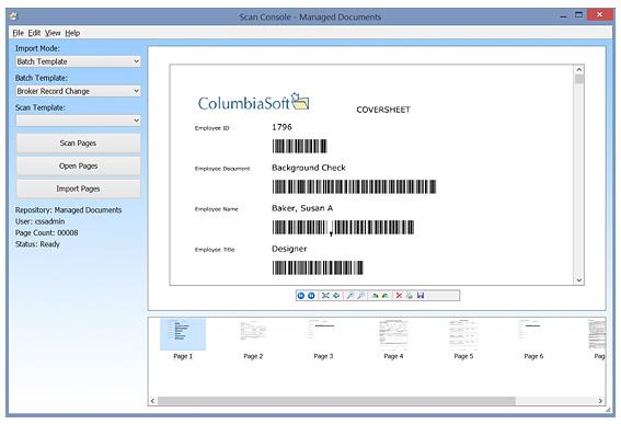 Document Scanning Features Document Locator