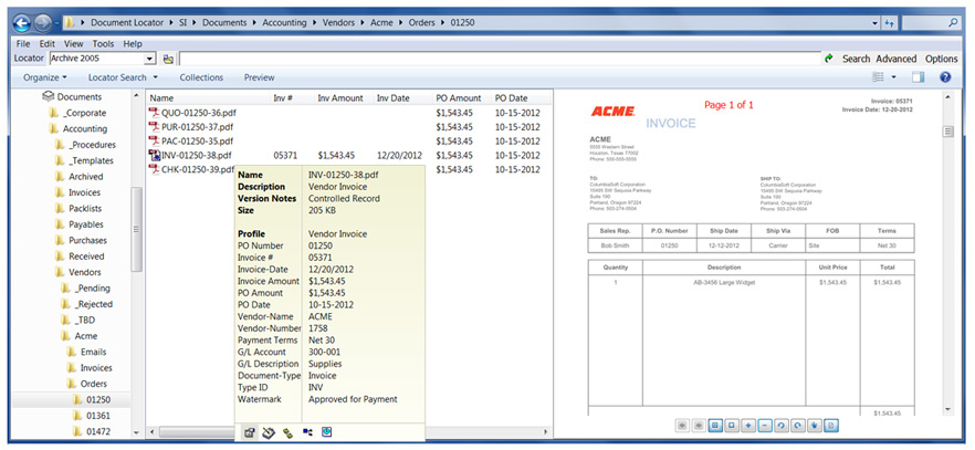 AP Invoice Processing - invoice documents