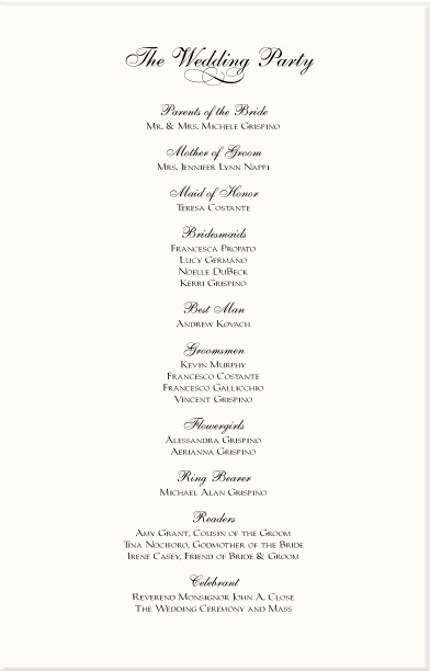 wedding reception order of service - Wedding Decor Ideas