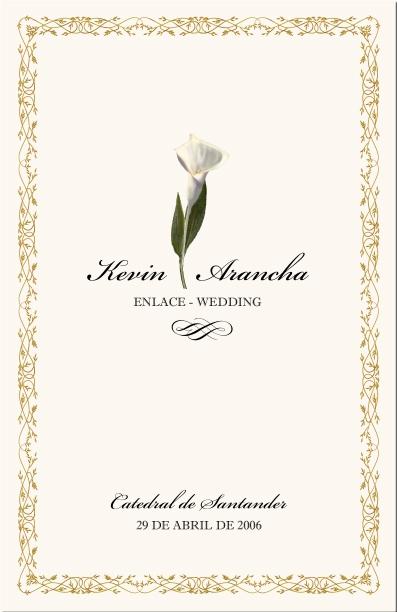Spanish Wedding Program Examples-Catholic Wedding Program-Wedding