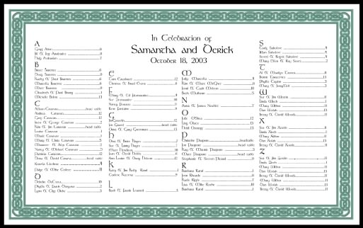 Wedding Seating Charts-Calligraphy-Wedding Reception Decorations