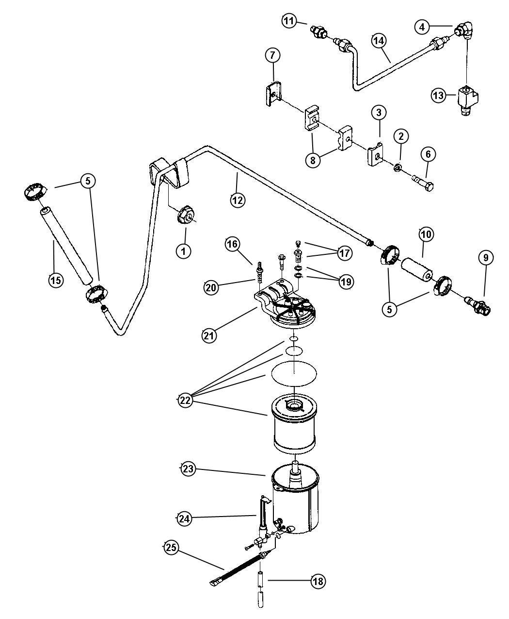dodge ram 2500 fuel filter diagram