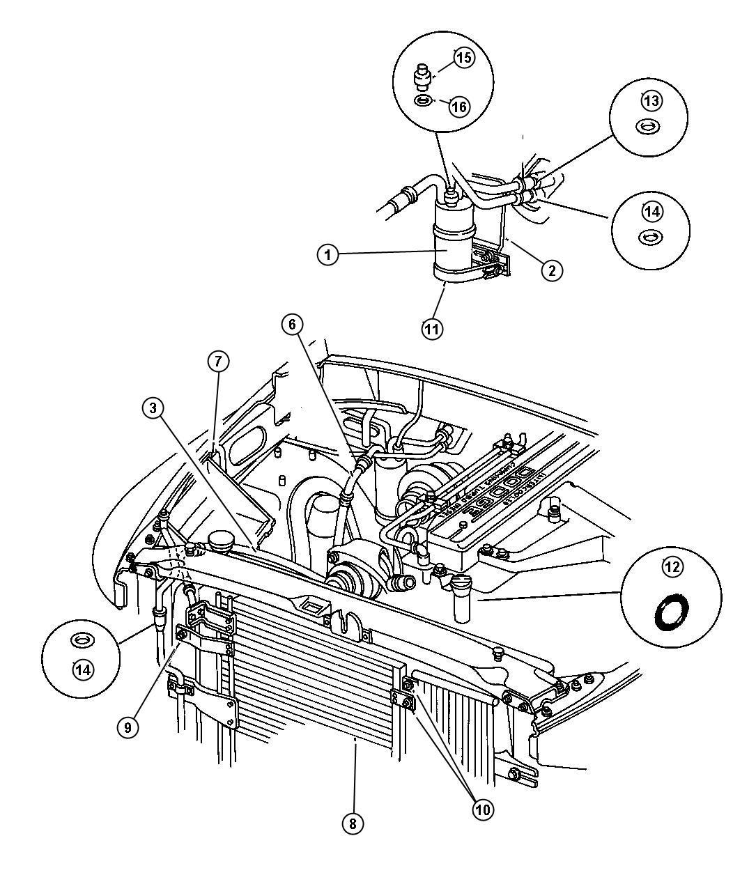 dodge ram air conditioning parts