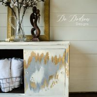 Gold leaf furniture makeover. Mid Century Modern with an ...