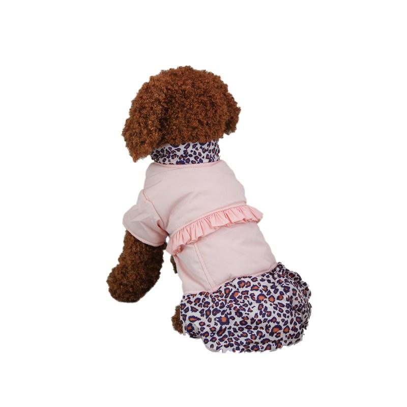 Fantastic Leisure Leopard Pattern Dog Coat Pet Skirt Dog Clos ...