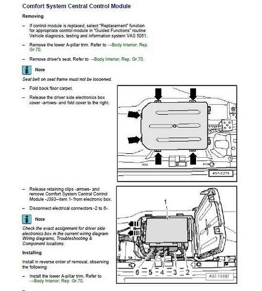 A4 convertible Comfort control system module - AudiWorld Forums
