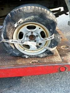 Blown Truck Tire