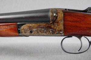 WEBLEY & SCOTT 20 GAUGE SIDE X SIDE SHOTGUN: