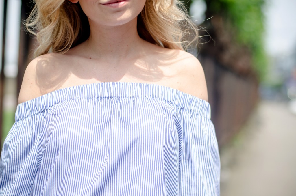 Zara Off Shoulder Top and White Jeans-21
