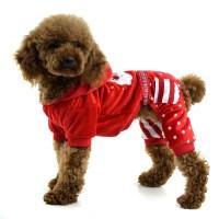 Fashion embroidered four-legged Christmas Dog clothing ...