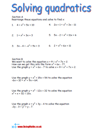 Quadratic Equations - Free worksheets, PowerPoints and ...