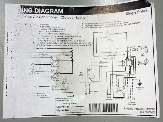 nordyne condenser wire diagram