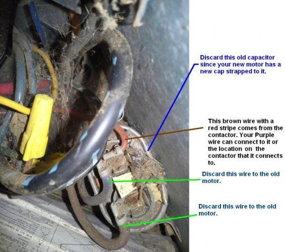 Trane XE 800 condenser fan motor wiring help - DoItYourself